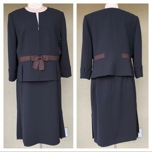 NEW Albert Nipon black skirt suit
